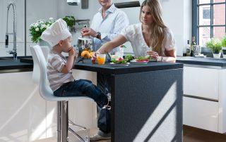 Inselküche der Familie Dr. Böwering, Essen