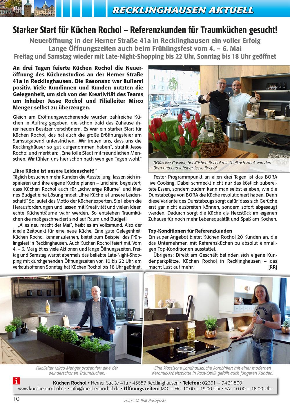 100% VEST Artikel zur Eröffnung in Recklinghausen