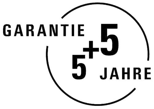 Garantie 5 plus 5 Jahre